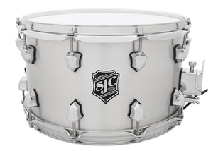 "SJC Element 8x14"" 2.5mm Rolled Brushed Aluminum Snare with Reinforcement Rings and Chrome Hardware"