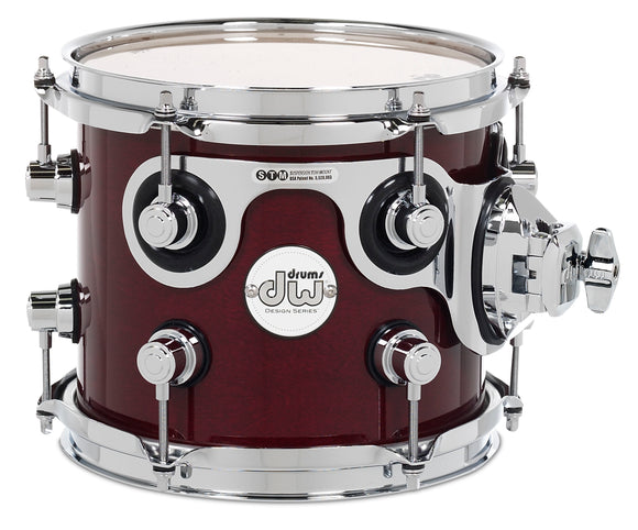 DW Design Series Maple Suspended Tom, 7x8, Cherry Stain Gloss Lacquer w/Chrome Hardware DDLG0708STCS