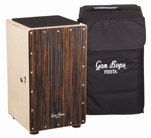 Gon Bops Fiesta Cajon - Walnut with free Bag