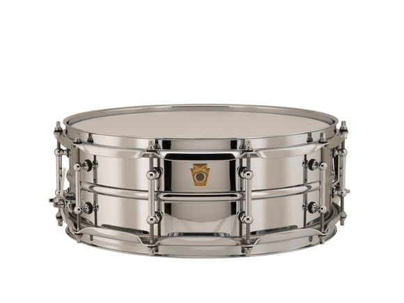 Ludwig 14x5 Chrome Over Brass Snare Drum with Tube Lugs