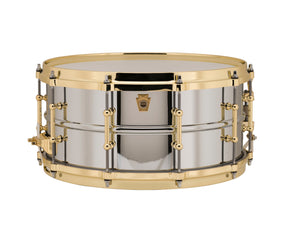 Ludwig Chrome Plated Brass Snare Drum - 14x6.5