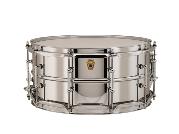 Ludwig 14x6.5 Chrome Over Brass Snare Drum with Tube Lugs