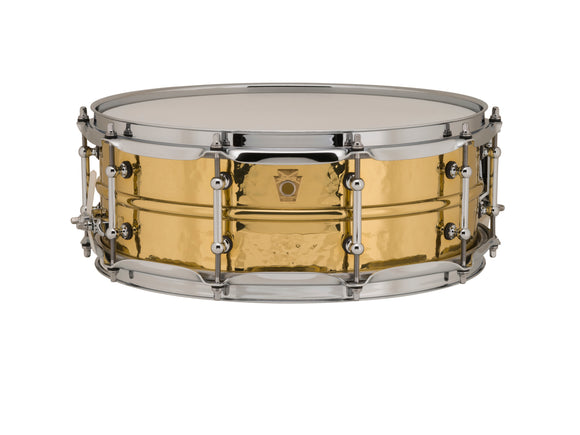 Ludwig 14x5 Hammered Brass Snare Drum with Tube Lugs