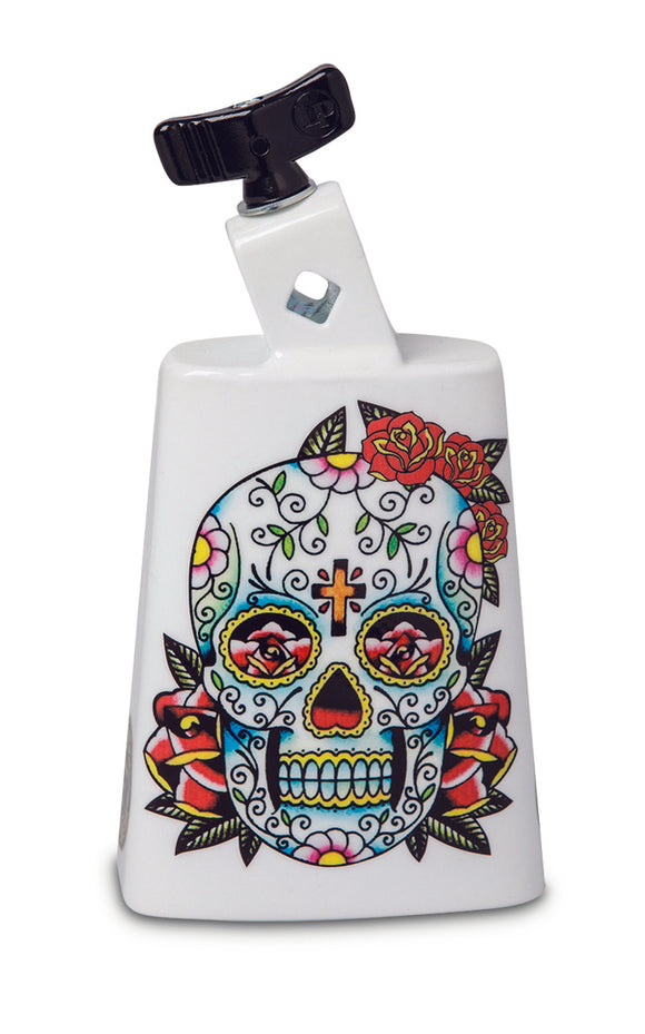 Latin Percussion LP204C-SS Black Beauty Cowbell - Sugar Skull
