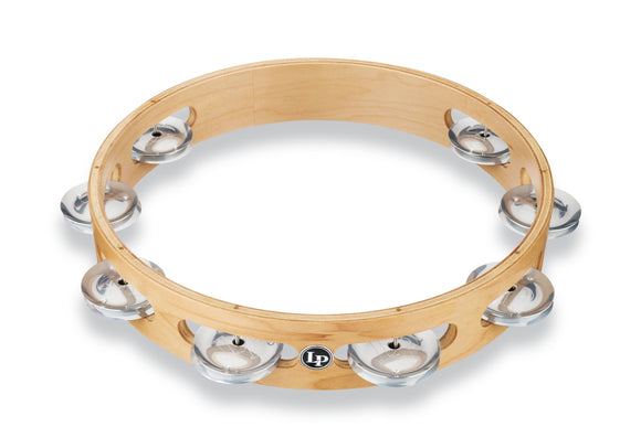 LP Pro 10 Inch Single Row Tambourine - Aluminum  LP380A-AL