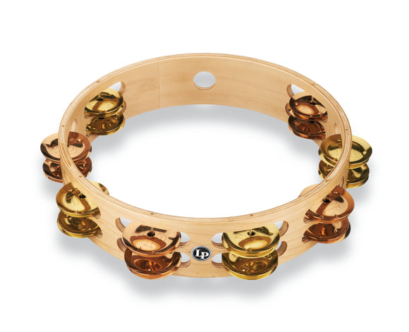 LP Pro 10 Inch Double Row Tambourine - Brass/Bronze Hybrid LP380B-BB