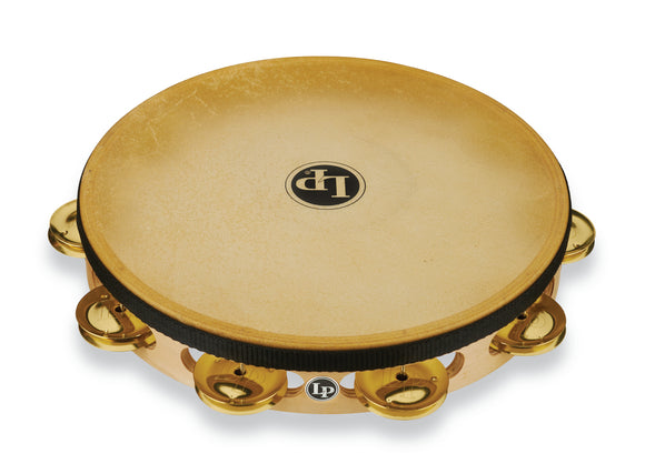 LP Pro 10 Inch Single Row Headed Tambourine - Brass LP383-BR