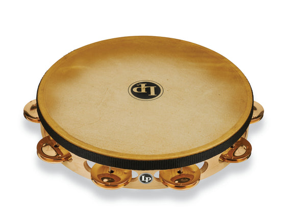 LP Pro 10 Inch Single Row Headed Tambourine - Bronze LP383-BZ