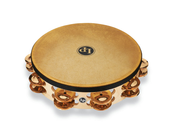 LP Pro 10 Inch Double Row Headed Tambourine - Bronze LP384-BZ