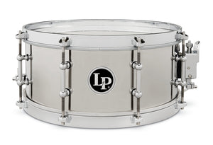 "Latin Percussion 5 1/5"" x 13"" Stainless Steel Salsa Snare Drum"