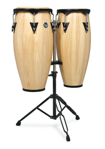 "LP City 10/11"" Conga Set Double Stand -Natural"