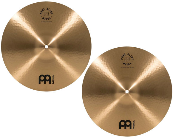Meinl Pure Alloy Traditional Hi Hat Pair 15