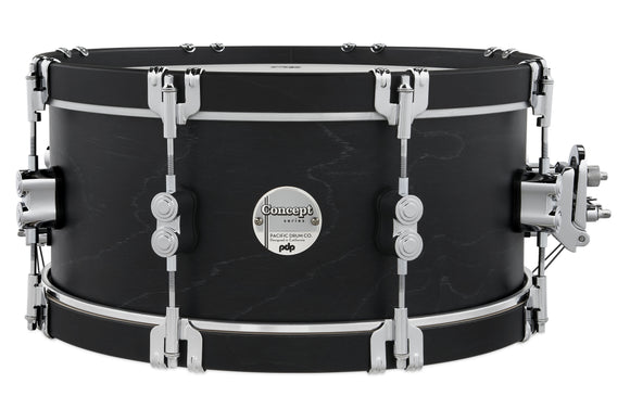 PDP Concept Classic 6.5x14 Ebony Stain Snare with Ebony Stain Wood Hoops PDCC6514SSEE