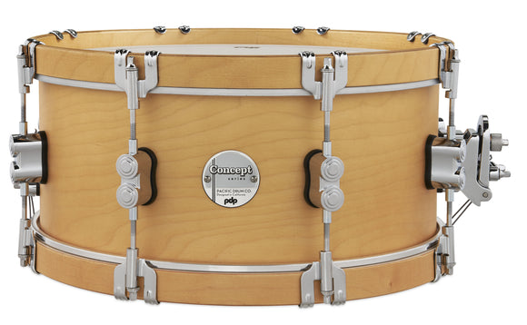 PDP Concept Classic 6.5x14 Natural Stain Snare with Natural Stain Wood Hoops PDCC6514SSNN