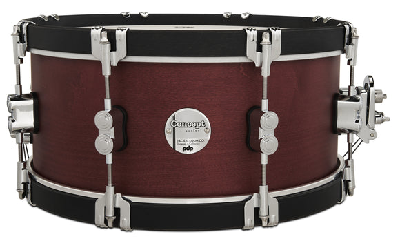 PDP Concept Classic 6.5x14 Ebony Stain Snare with Ebony Stain Wood Hoops PDCC6514SSOE