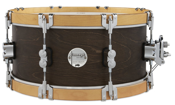PDP Concept Classic 6.5x14 Walnut Stain Snare with Natural Stain Wood Hoops PDCC6514SSWN