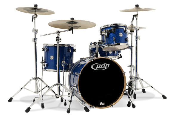 PDP Concept Series 4-Piece Maple Shell Pack, Blue Sparkle
