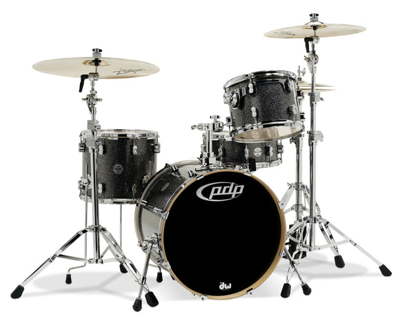 PDP Concept Series 4-Piece Maple Shell Pack, Black Sparkle