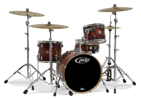 PDP Concept Series 4-Piece Maple Shell Pack, Satin Tobacco Burst