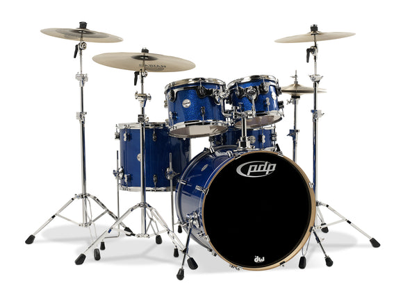 PDP Concept Series 5-Piece Maple Shell Pack, Blue Sparkle