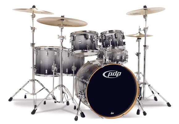 PDP Concept Series 6-Piece Maple Shell Pack, Silver to Black Fade