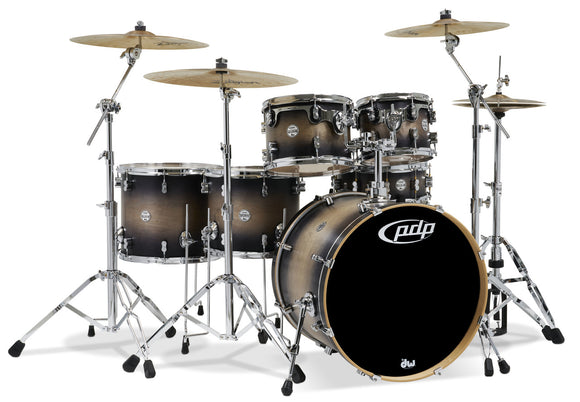 PDP Concept Series 6-Piece Maple Shell Pack, Satin Charcoal Burst