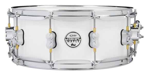 PDP 5.5x14 Snare, Pearlescent White Lacquer w/ Chrome Hardware