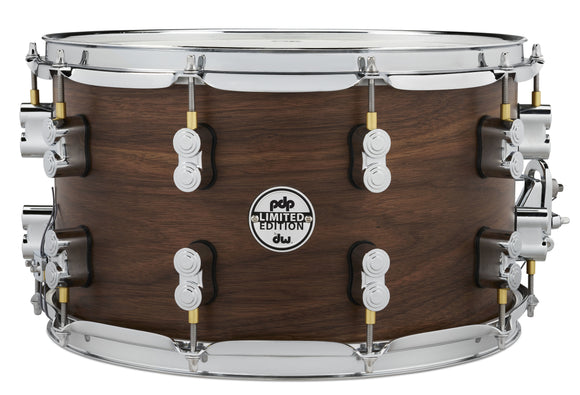 PDP LTD Maple/Walnut Snare, Natural Satin, 8x14 PDSN0814MWNS