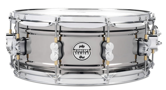 PDP Concept Snare 5.5x14, Black Nickel over Steel, Chrome Hardware