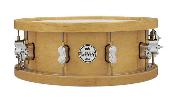 PDP THICK Wood Hoop MAPLE Snare, 5.5x14, Chrome Hardware