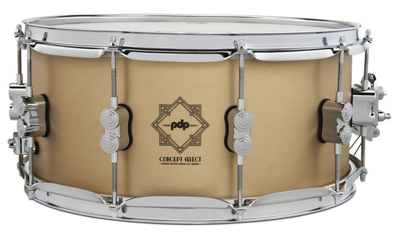 6.5x14 Concept Select 3mm Bell Bronze w/ Chrome Hardware PDSN6514CSBB