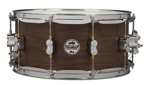 PDP LTD Maple/Walnut Snare, Natural Satin, 6.5x14 PDSN6514MWNS