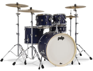 "PDP Spectrum Series Shell Pack, 5pc w/22"" Bass Drum, Ultraviolet 8x10, 9x12, 14x16, 18x22, 5.5x14 PDST2215BL"