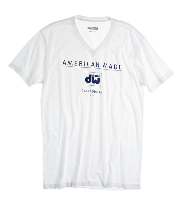 DW AMERICAN MADE, WHITE T-SHIRT, XX-LARGE