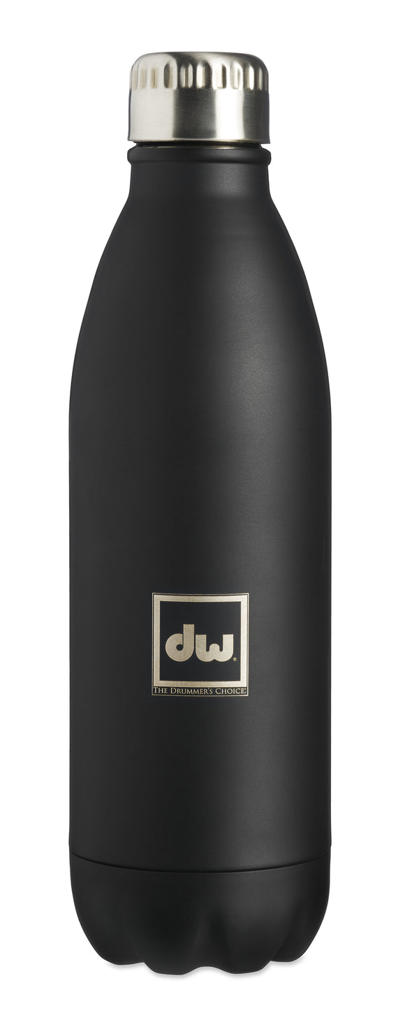 DW Drumwear  Matte Black Drummer?s Bottle, 26oz PR60DWBOTTLE
