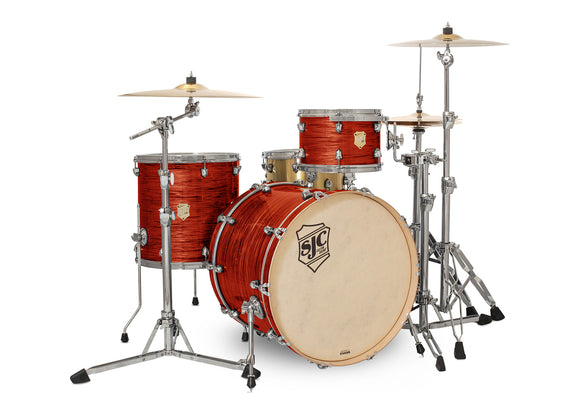 SJC Providence Series 3 Piece Shell Pack Volcanic Ripple with Chrome Hardware