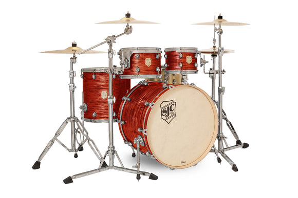 SJC Providence Series 4 Piece Shell Pack Volcanic Ripple with Chrome Hardware