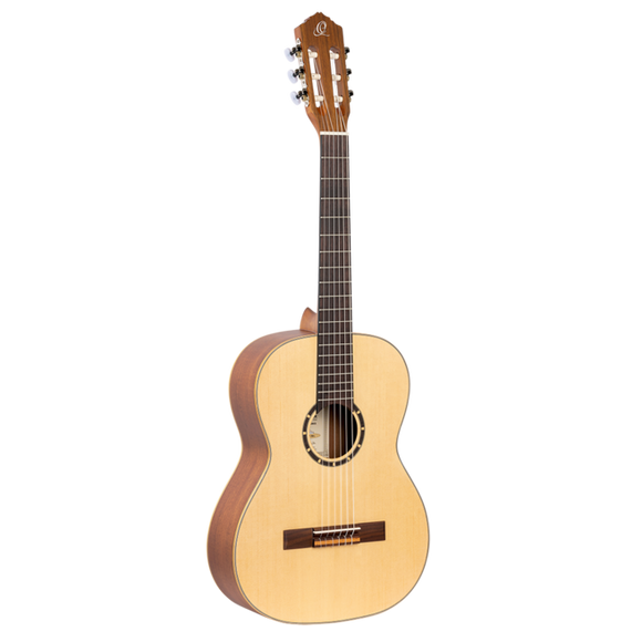 Ortega Family Series 7/8 Sized Classical Guitar - Satin Natural - Right