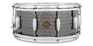 Gretsch Hammered Black Steel 8x14 Snare Drum