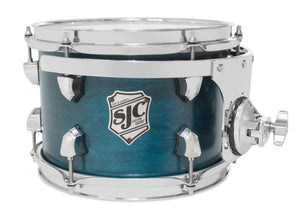 "SJC Tour Series 7x10"" Blue Satin Stain Tom with Chrome Hardware"