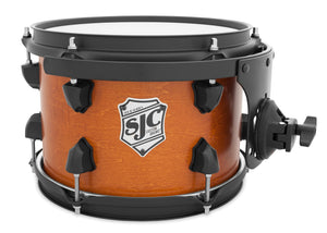 "SJC Tour Series 7x10"" Golden Ochre Satin Stain Tom with Flat Black Hardware"