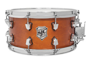 "SJC Tour Series 7x14"" Golden Ochre Satin Stain Snare with Chrome Hardware"