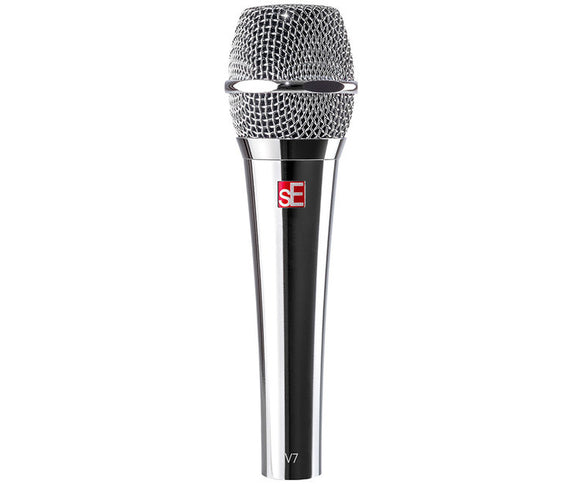 sE Electronics V7 Supercardioid Dynamic Vocal Microphone - Chrome