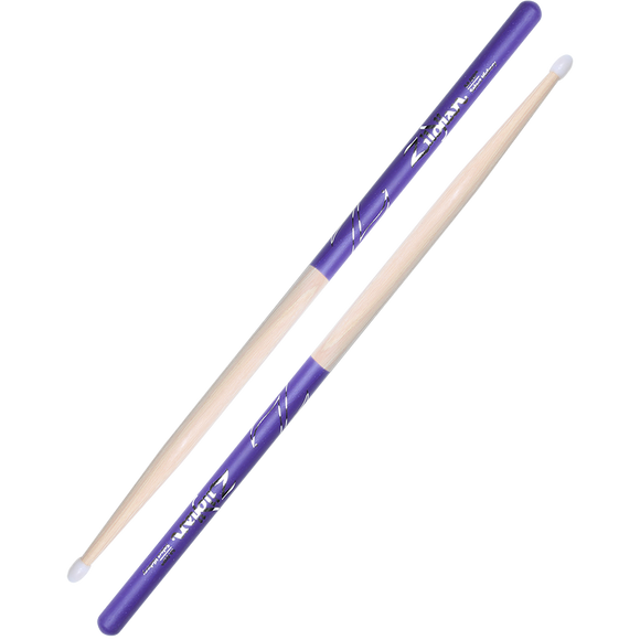 ZILDJIAN 5A NYLON PURPLE DIP Hickory