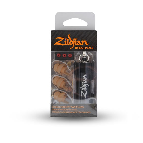 ZILDJIAN EAR PLUGS BY EARPEACE - TAN Z-GEAR