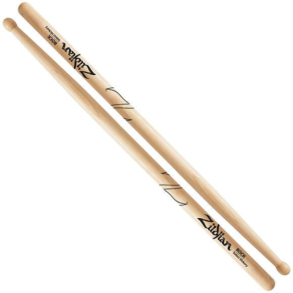 ZILDJIAN ROCK WOOD NATURAL DRUMSTICK Hickory
