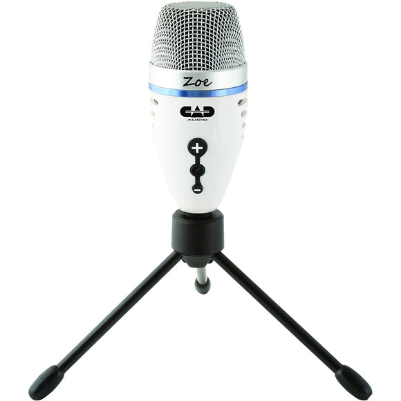 CAD Audio Zoe USB Condenser Recording Microphone for Streaming w/ Headphone Output