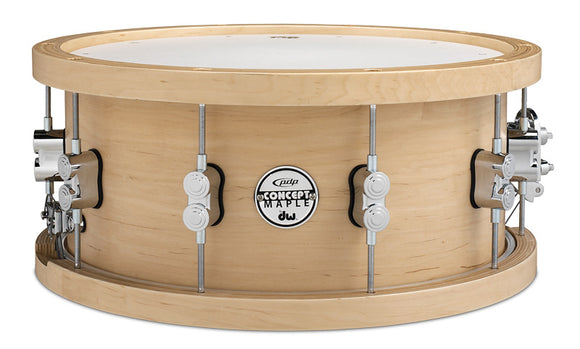 Pacific Drums PDP Concept Series Wood Hoop Maple Snare 6.5x14