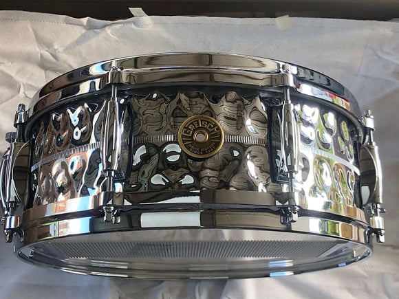 Gretsch USA Metal Hammered Chrome Over Brass Snare Drum