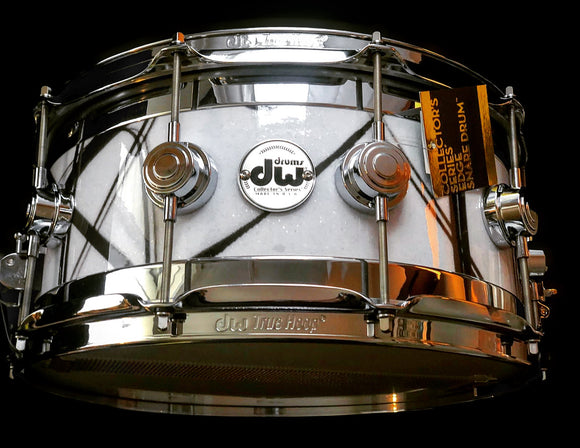 "DW 14""x 7"" Collector's Series Edge Maple Standard White Glass Contrail w/ Chrome Hardware"
